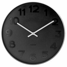 Karlsson Wall Clock Mr. Black Numbers Small 37.5cm NEW