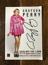 Grayson Perry Autographed A5 Leaflet
