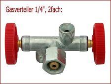 Gasverteiler (1/4 Zoll): 2 Brenner an einer Gasflasche!