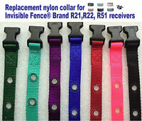 "Invisible Fence Brand R21 R22 R51 Replacement Nylon Collar 3/4"" 2 Hole 1.25"""