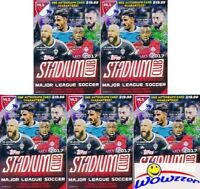 (5) 2017 Topps Stadium Club MLS EXCLUSIVE Factory Sealed Blaster Box-5 AUTOGRAPH