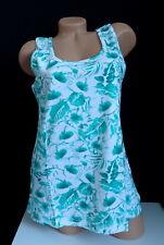 Nuevo Elegante Mujer Top en Blanco Claro Verde con Blumen-Alloverdruck Gr.40