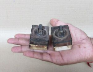 Vintage Khosla Brand Ceramic Black & White Light Electric Switches Collectible
