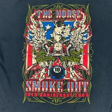 Vintage 10th Anniversary The Horse Backstreet Choppers Smoke Out T shirt size XL