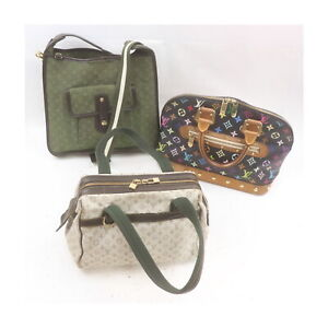 Louis Vuitton Monogram Mini lin/Multicolore Hand/Shoulder Bag 3pc set 521593