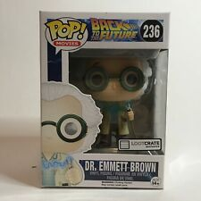 Funko Pop! Dr. Emmett Brown (1955 w/ Jumper Cables) #236 Lootcrate Exclusive New