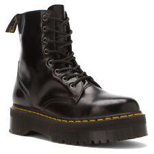 Women's Dr Martens Jadon 8 Eye LaceUp ZipOn Boot Black Smooth 15265001