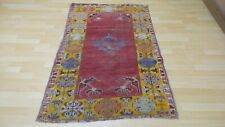 Old TURKISH prayer  CARPET RUG antique WOOL oriental  Kirchehir c 1880