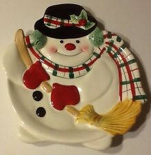 Fitz and Floyd Gift Gallery Snowman Cookie Tray