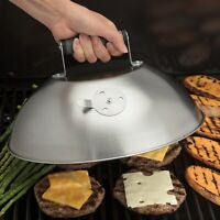 """NEW Cuisinart® 12.25"""" Stainless Steel BBQ Melting Dome with Steam Vent"""