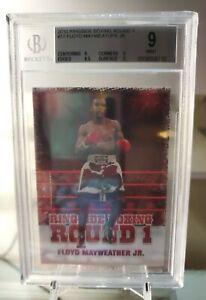 FLOYD MAYWEATHER JR #17 2010 Ringside Boxing Round 1 BGS 9 MINT RARE TMT 🔥