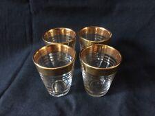 Vintage Shot Glasses VCA  Made in France Gold Gilding 1960s Four in Total