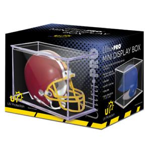 Ultra Pro Mini Football Helmet Holder UV Display Case NCAA NFL MLB Mini Helmets