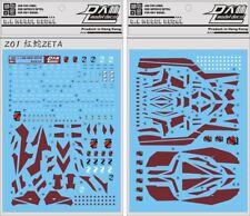 US Seller Premium D.L Dalin Waterslide decal MG 1/100 Red Zeta Gundam Gunpla