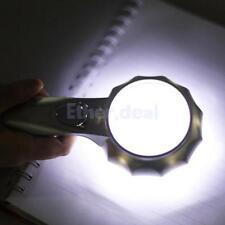 Vergrößerungsglas mit 6 LED Lampe Licht Lupe Leselupe Lesehilfe 6 Fach 65mm