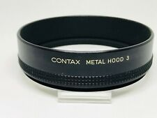 Genuine *Exc+++++* Contax Metal Lens Hood 3 from JAPAN*1208