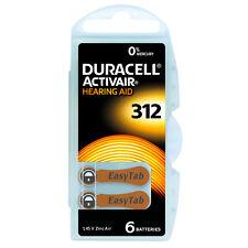 18 pile batterie per protesi acustiche DURACELL 312 Activair
