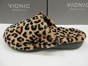Vionic Womens Gemma Slipper Leopard Tan 6