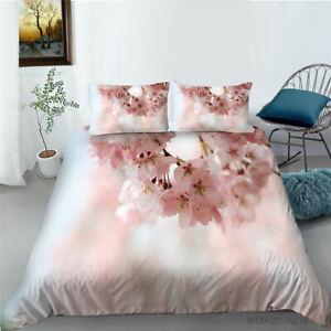 Milsleep Pink Flower Design  2/3 PCS Duvet Cover & Pillowcase No Quilt
