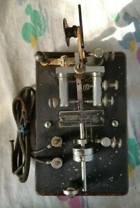 VINTAGE Telegraph Apparatus Co. Telegraph Key Chrome Plated