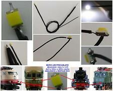 N.2 MICRO LED 12V-18V SMD mm.2x1,2 BIANCO per LUCI LOCOMOTORI DC-DCC SCALA N-HO