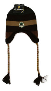 Guinness Beer OSFM One Size Fits Most Laplander Winter Knit Beanie Hat Cap NWT