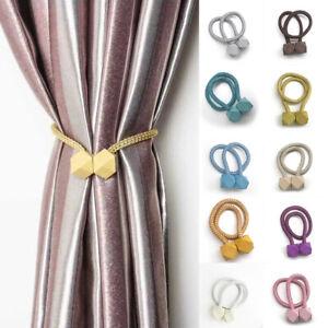 Magnetic Ball Curtain Tiebacks Tie Backs Buckle Clip Belt Holdbacks Home Decor