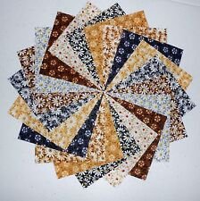 """40 5"""" Quilting Fabric Squares Shades Of Neutral 3 Gorgeous/BUY IT NOW !!!"""