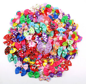 New Pet Dog Hair Bows Assorted Styles Pet Dog Grooming Product Accessories