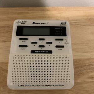 MIDLAND Digital S.A.M.E. WEATHER ALERT HAZARD NOAA RADIO WR-100 White