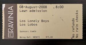 LOS LONELY BOYS / LOS LOBOS - RAVINIA FESTIVAL, IL - JUN 26, 2004 - RARE TICKET!