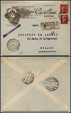 LUOGOTENENZA-2 lire IMPERIALE+5 lire(255+534)-Racc. Empoli(Firenze) 19.9.1945
