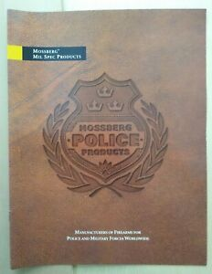 Vintage Mossberg Firearms Police Products Catalog 1999