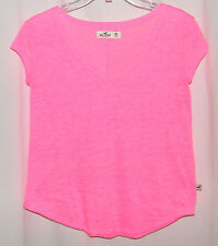 Hollister Ladies / Junior Pink Short / Cap Sleeve Knit / T Shirt / Top . XS