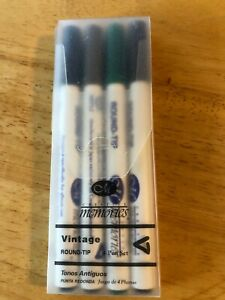 CREATIVE MEMORIES ~ 4 Round Tip VINTAGE Pen MARKER Pack ~ SCRAPBOOK ~ New NIP