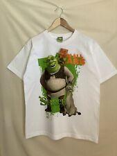 """Nwt Shrek 2 Movie Comedy Promo T Shirt """"I'm All Ears� 2004 White Sz. L"""