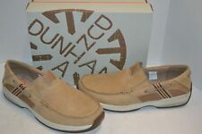 Dunham Mens Windward Slip-On LEATHER BEIGE WATERPROOF boat shoe 11 D