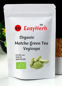 EasyHerb™ Organic Matcha Green Tea Powder Vegicaps 500mg, Capsules, 90, pills