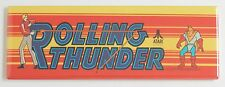 Rolling Thunder Marquee FRIDGE MAGNET (1.5 x 4.5 inches) arcade video game