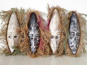Wooden Hand Carved Primitive Tribal Mask 30cm Multi Listing Choose Your Mask....