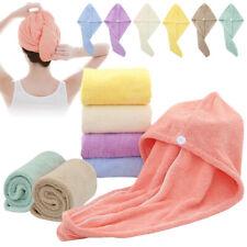 New Microfibre Magic Hair Fast Drying Dryer Towel Bath Wrap Hat Quick Cap Turban