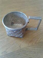 Vaso de té ruso Pequeño Plata Maciza titular c1900