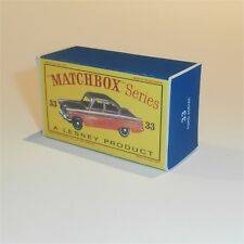Matchbox Lesney 33 a Ford Zodiac empty Repro D style Box