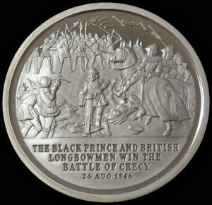 1975 SILVER THE BLACK PRINCE & BRITISH LONGBOWMEN WIN SHIELD FOR PEACE MEDAL