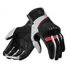 Guanti moto Rev'it Mosca nero rosso taglia M black red gloves primavera estate