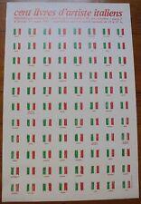 affiche d'exposition Cent Livres d'Artiste Italiens Bibliothèque Nationale 1981