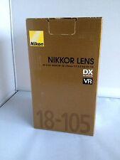 Boite d'emballage boxing pour objectif Nikon AF-S 18-105 F3.5-5.6 VR
