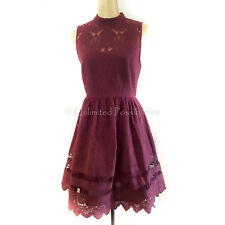 PORTMANS SIGNATURE Wish Upon A Star Fit & Flare Dress New Zinfandel Size 12 Tags