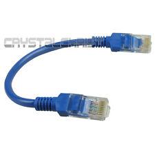 """10pcs  x 8"""" Network Cat5E RJ45 Patch Cable Ethernet Lan 0.2M Patch Cord Blue New"""