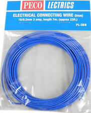 PECO PL-38B 1 x Blue 7.0m 16/0.2mm 3amp Model Railway Layout Wire Roll 1st Post